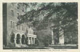 """Entrance and East Wing Dormitory, Alabama College, Montevallo, Alabama."""