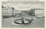 """Dexter Avenue, Looking East, Showing State Capitol, Montgomery, Alabama."""