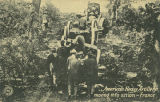 """American Heavy Artillery moving into action - France."""