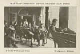 """War Camp Community Service, Soldiers' Club - Porch, 12 South McDonough Street, Montgomery,..."