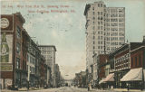 """1st Ave. West from 21st St., showing Brown-Marx Building, Birmingham, Ala."""