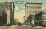 """20th St. looking North from L. & N. Depot, Birmingham, Ala."""