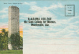 Postcard souvenir packet, featuring images from Alabama College in Montevallo.