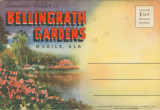 Postcard souvenir packet featuring scenes from Bellingrath Gardens in Theodore, Alabama.