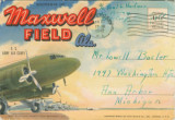 Postcard souvenir packet featuring images from Maxwell Field in Montgomery, Alabama.