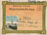Postcard souvenir packet featuring images of Montgomery, Alabama.