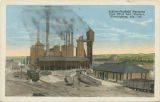 """Schloss-Sheffield Furnaces from First Ave. Viaduct, Birmingham, Ala."""