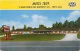 """Motel Troy, 2 miles north on Highway 231 - Troy, Ala."""