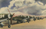 """Airacobras Being Serviced On Line At Brookley Field, Mobile, Alabama."""