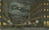 """Third Avenue West from 20th, Showing the 'White Way' by Night, Birmingham, Ala."""