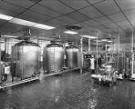 Equipment at a dairy processing plant in Alabama.