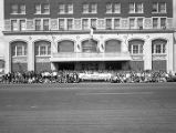 Members of the Alabama Junior Cattlemen's Association in front of the Jefferson Davis Hotel in...
