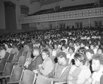 Students in the auditorium at Sidney Lanier High School in Montgomery, Alabama, during a...