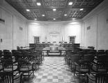Court chamber in the Judicial Building in Montgomery, Alabama.