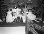 King and queen on stage during the Krewe of the Athenians Ball at the Montgomery City Auditorium...