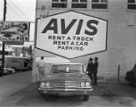 Parking lot for the Avis Rent-A-Car office on Montgomery Street in Montgomery, Alabama.