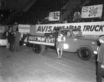 Avis Rent-A-Car booth at Garrett Coliseum during the 1967 South Alabama Fair in Montgomery,...