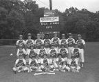 Montgomery Gray Babe Ruth League champion team on the field at Cloverdale Junior High School in...