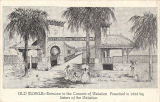 """Old Mobile - Entrance to the Convent of Visitation.  Founded in 1833 by Sisters of the..."