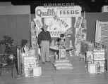 Bunson Milling Company booth at Garrett Coliseum during the 1955 South Alabama Fair in Montgomery,...