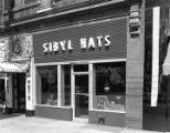 New storefront at Sibyl Hats on North Perry Street in downtown Montgomery, Alabama.
