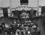 Congregation at Calvary Baptist Church on South Hull Street in Montgomery, Alabama, during a...
