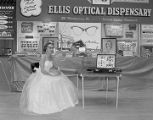 Ellis Optical Dispensary booth at Garrett Coliseum during the 1956 South Alabama Fair in...