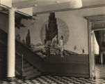 Mural painted by A. L. Bairnsfather in Doster Hall at the University of Alabama.