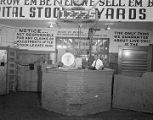 Auction arena at Capital Stock Yards in Montgomery, Alabama.