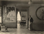 """The Development of Art Consciousness,"" murals painted by A. L. Bairnsfather in Doster..."