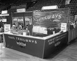 Capital Trailways booth at Garrett Coliseum during the 1959 South Alabama Fair in Montgomery,...
