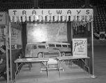 Capital Trailways booth at Garrett Coliseum during the 1956 South Alabama Fair in Montgomery,...
