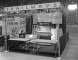 Capital Trailways booth at Garrett Coliseum during the 1957 South Alabama Fair in Montgomery,...