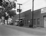 Capital Trailways bus garage and office at 221 Lee Street in downtown Montgomery, Alabama.