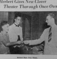 Copies of news clippings about the opening of the Clover Theater on Fairview Avenue in Montgomery,...