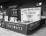 Capital Trailways booth at Garrett Coliseum during the 1963 South Alabama Fair in Montgomery,...