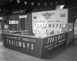 Capital Trailways booth at Garrett Coliseum during the 1964 South Alabama Fair in Montgomery,...