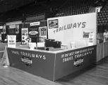 Capital Trailways booth at Garrett Coliseum during the 1961 South Alabama Fair in Montgomery,...