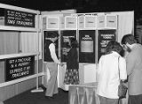 Capital Trailways booth at Garrett Coliseum during the 1980 South Alabama Fair in Montgomery,...