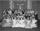 Delta Phi sorority members, possibly from Huntingdon College, at the Montgomery Country Club in...