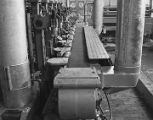 Molding machinery at the Hazel-Atlas Glass division of the Continental Can Company on Lower...