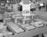 Display of dishes in a department store, possibly the Belk Hudson store at 44 Dexter Avenue in...