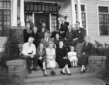 Members of the family of William S. Brewbaker, on the porch of his home at 1522 South Court Street...