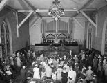 Congregation in the auditorium at First Presbyterian Church at 52 Adams Avenue in Montgomery,...