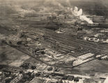 Aerial view of the American Steel and Wire Company in Fairfield, Alabama.
