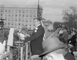 Governor Jim Folsom speaking during his inauguration in Montgomery, Alabama.