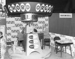 E. E. Forbes Piano Company booth at Garrett Coliseum during the 1956 South Alabama Fair in...