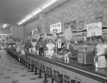 Lunch counter at a Woolworth store in Montgomery, Alabama.