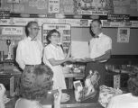 Presentation by Foremost Dairies at the lunch counter of the Woolworth store in the Normandale...