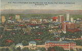 """View of Birmingham from Red Mountain with Ramsey High School in Foreground, Birmingham,..."